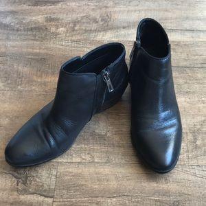 Sam Edelman Ankle Boots-Black Leather